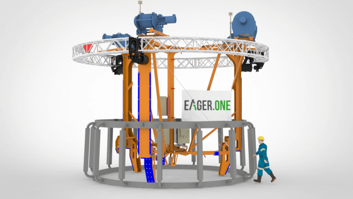 Eager.one provides anode cage installation tool to Van Oord