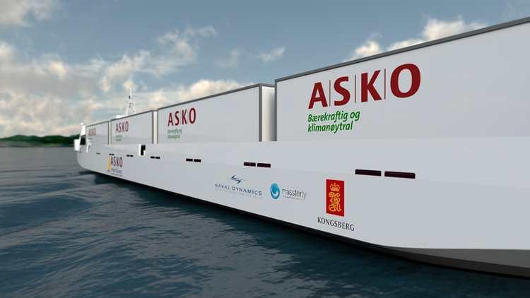 Kongsberg Maritime and Massterly to equip ASKO's new zero-emission autonomous vessels