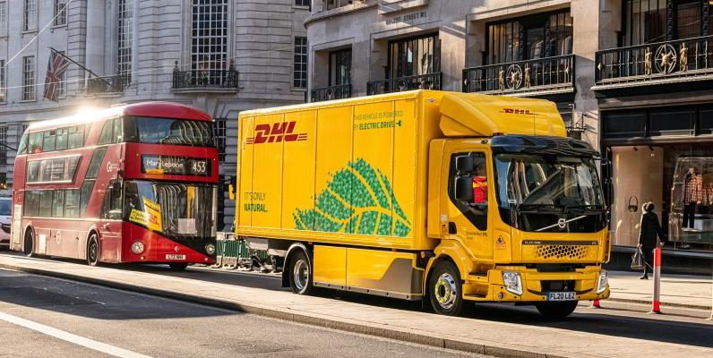 DHL takes its first fully electric vehicle to UK road