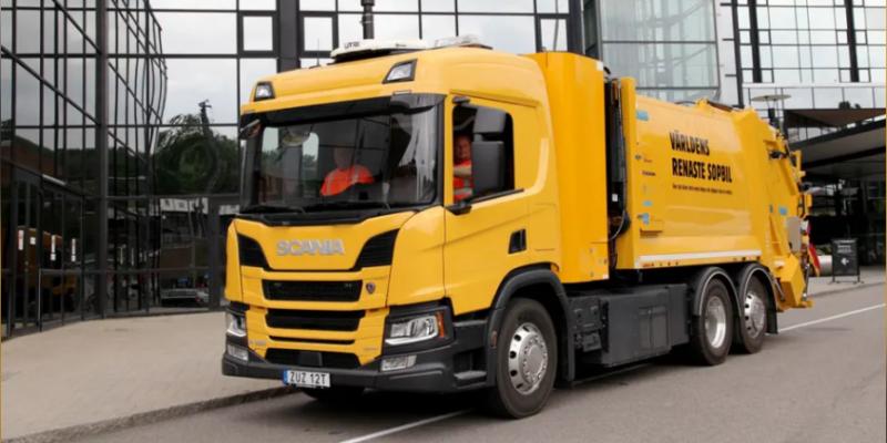 EnergyNews: Sweden's first hydrogen-powered garbage truck.